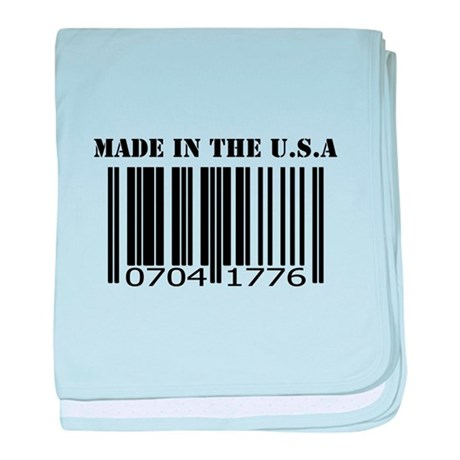 Made in the U.S.A baby blanket