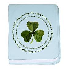 Irish drinking song baby blanket