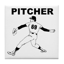Cute Softball adult Tile Coaster