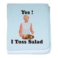 Toss the salad baby blanket