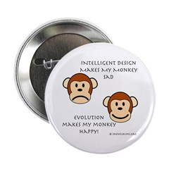 Intelligent Design Makes My Monkey Sad... Button