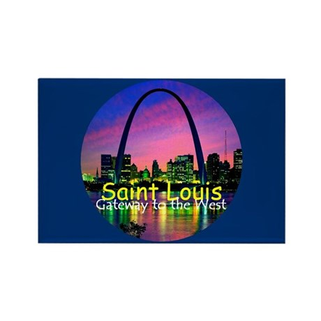 St. Louis Rectangle Magnet (10 pack)