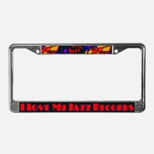 Jazz Records License Plate Frame
