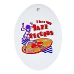 Jazz Records Ornament (Oval)