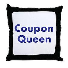 Coupon Queen Throw Pillow