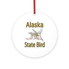 Alaska State Bird Ornament (Round)
