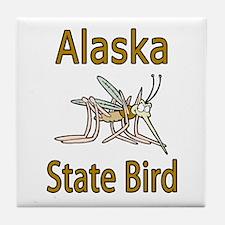 Alaska State Bird Tile Coaster