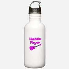 girls pink ukulele Water Bottle