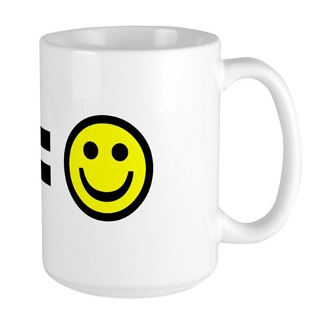 Money equals happiness Large Mug