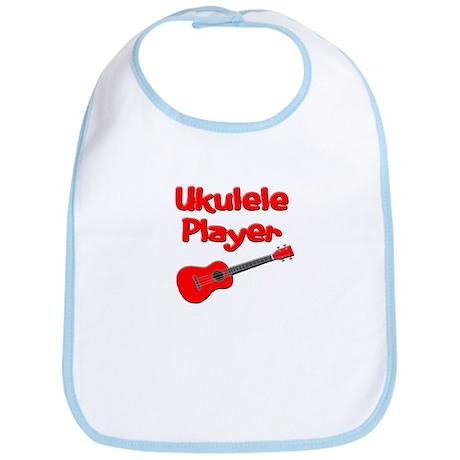 red ukulele Bib
