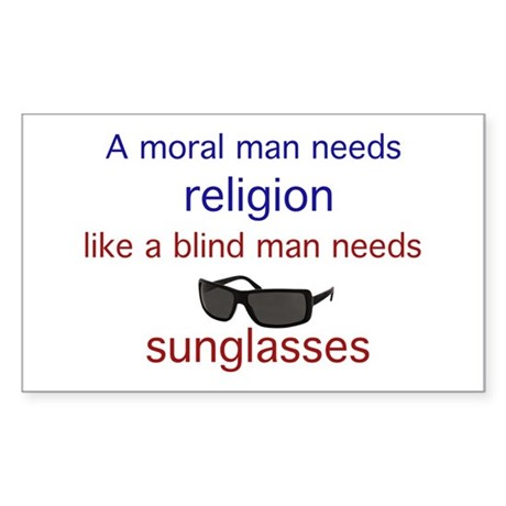 Moral Man Sticker (Rectangle 10 pk)