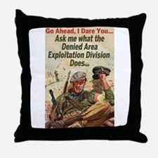 Denied Area Throw Pillow