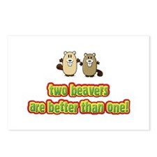 Two beavers are better than o Postcards (Package o