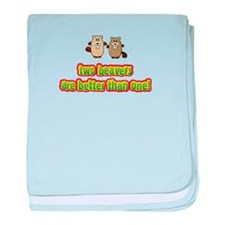 Two beavers are better than o baby blanket