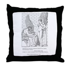 Daedalus and Icarus (Ovid) Throw Pillow