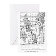Daedalus and Icarus (Ovid) Greeting Card