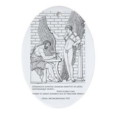 Daedalus and Icarus (Ovid) Ornament (Oval)