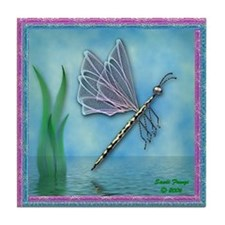 Dragonfly 11 Tile Coaster
