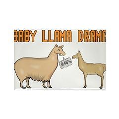 Baby Llama Drama Rectangle Magnet (100 pack)
