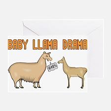 Baby Llama Drama Greeting Card