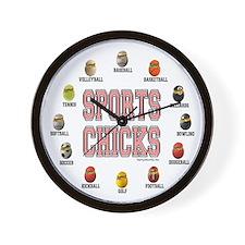 Sports Chicks Wall Clock