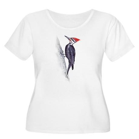 handsome pileated woodpecker Women's Plus Size Sco