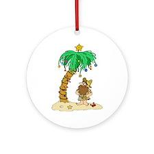 Desert Island Christmas Ornament (Round)
