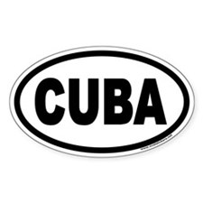 CUBA Euro Oval Bumper Stickers