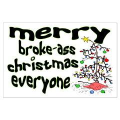 Broke Ass Christmas Posters