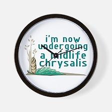 Midlife Chrysalis Wall Clock
