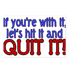Hit It & Quit It Postcards (Package of 8)