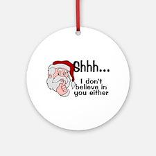 Santas Secret Ornament (Round)