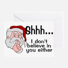 Santas Secret Greeting Card