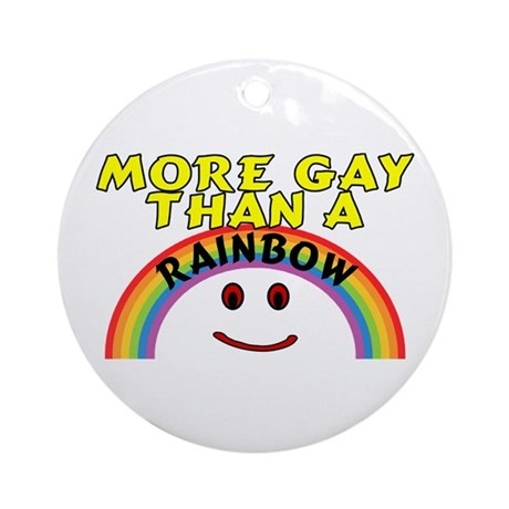 Gay Rainbow Ornament (Round)