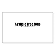Asshole Free Zone(TM) Decal