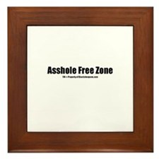 Asshole Free Zone(TM) Framed Tile