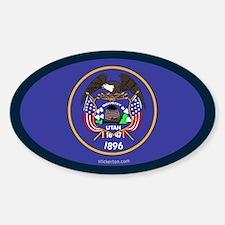 Utah State Flag Oval Decal