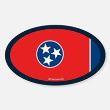Tennessee State Flag Oval Decal