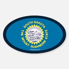 South Dakota State Flag Oval Decal