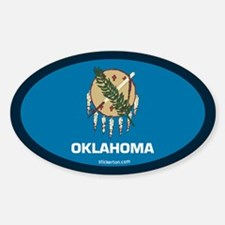 Oklahoma State Flag Oval Decal