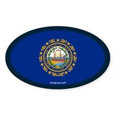 New Hampshire State Flag Oval Decal