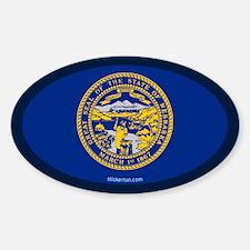 Nebraska State Flag Oval Decal