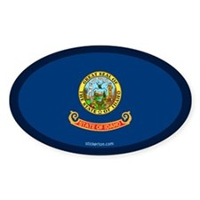Idaho State Flag Oval Decal