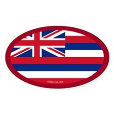 Hawaii State Flag Oval Decal