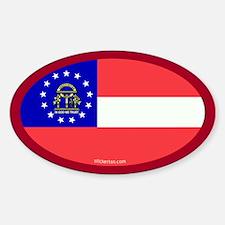 Georgia State Flag Oval Decal