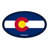 Colorado flag sticker Single