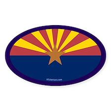 Arizona State Flag Oval Decal