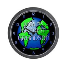 World's Greatest Grandson Wall Clock