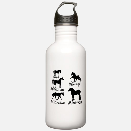 Horse Cars Water Bottle