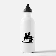barrel racing silhouette Water Bottle